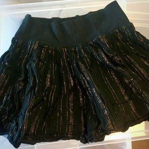 H&M Black Pinstripe Mini Skirt